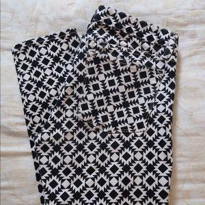 J crew black and white pattern jean